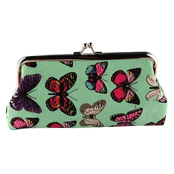 feb0545a6ec Small Change Purse Coin, Women's Cute Butterfly Wallets Buckle Coin ...
