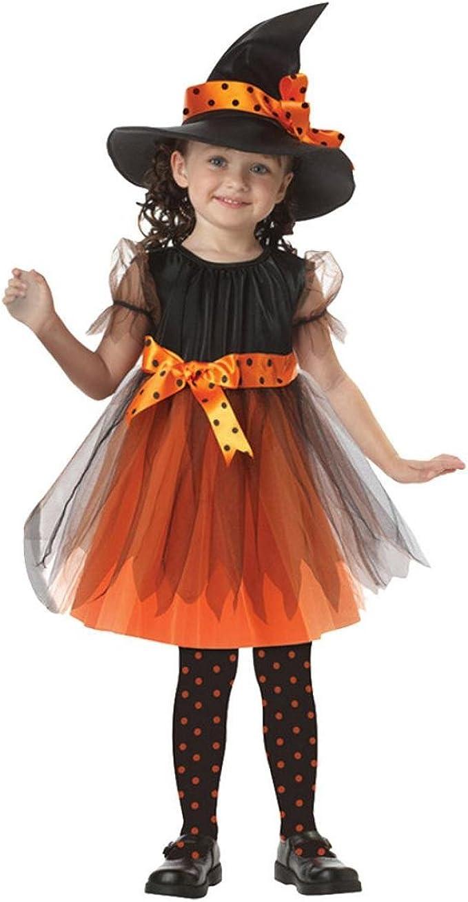 K-youth Disfraz Bruja de Halloween para Niñas Cosplay Niña ...