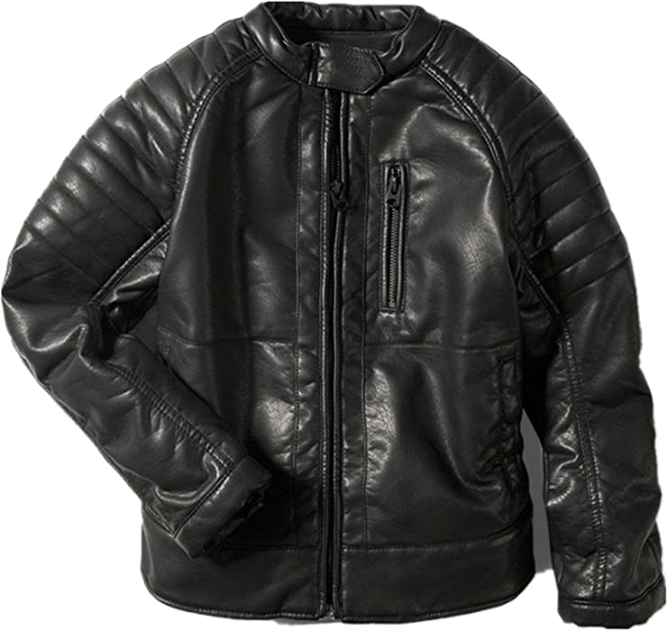 97a9f01b2 Amazon.com  LJYH Boys Faux Leather Jacket Children s Collar ...