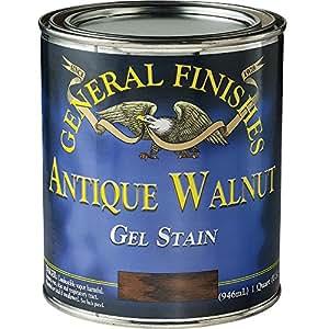 General Finishes AQ Gel Stain, 1 quart, Antique Walnut