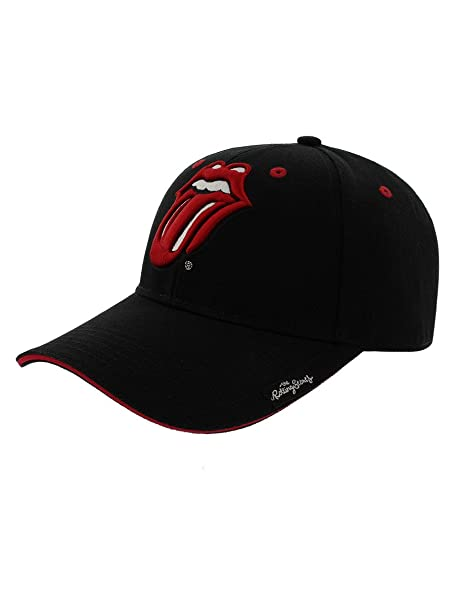 d776a59b7937bc Amazon.com: Official Rolling Stones Classic Tongue Logo Baseball Cap Hat:  Clothing