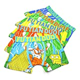 2-8 Years Old Boys Character Ultraman Boxer Briefs Pattern Underwear 5 Pack