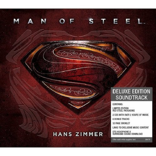 Man of Steel: Original Motion Picture Soundtrack (Limited Deluxe Edition in Red Steel Packaging) by Zimmer, Hans [Music CD] by Hans Zimmer (2013-05-04)