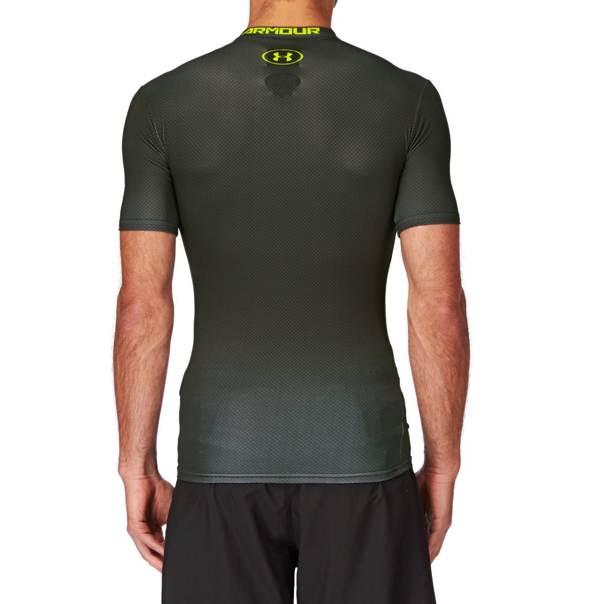 Amazon.com: Under Armour Alter Ego 2.0 Compression Base Layer Top Small Black Hi Vis Yellow: Sports & Outdoors
