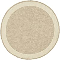 Safavieh Easy to Care Collection EZC427A Hand-Hooked Natural Round Area Rug (6 Diameter)