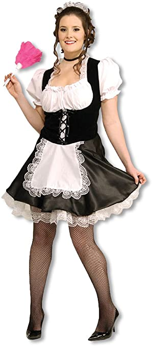 maid costume Sexy plus size