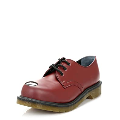 d387913037e Dr. Martens Mens Cherry Red Keaton Smooth Leather Shoes: Amazon.co ...