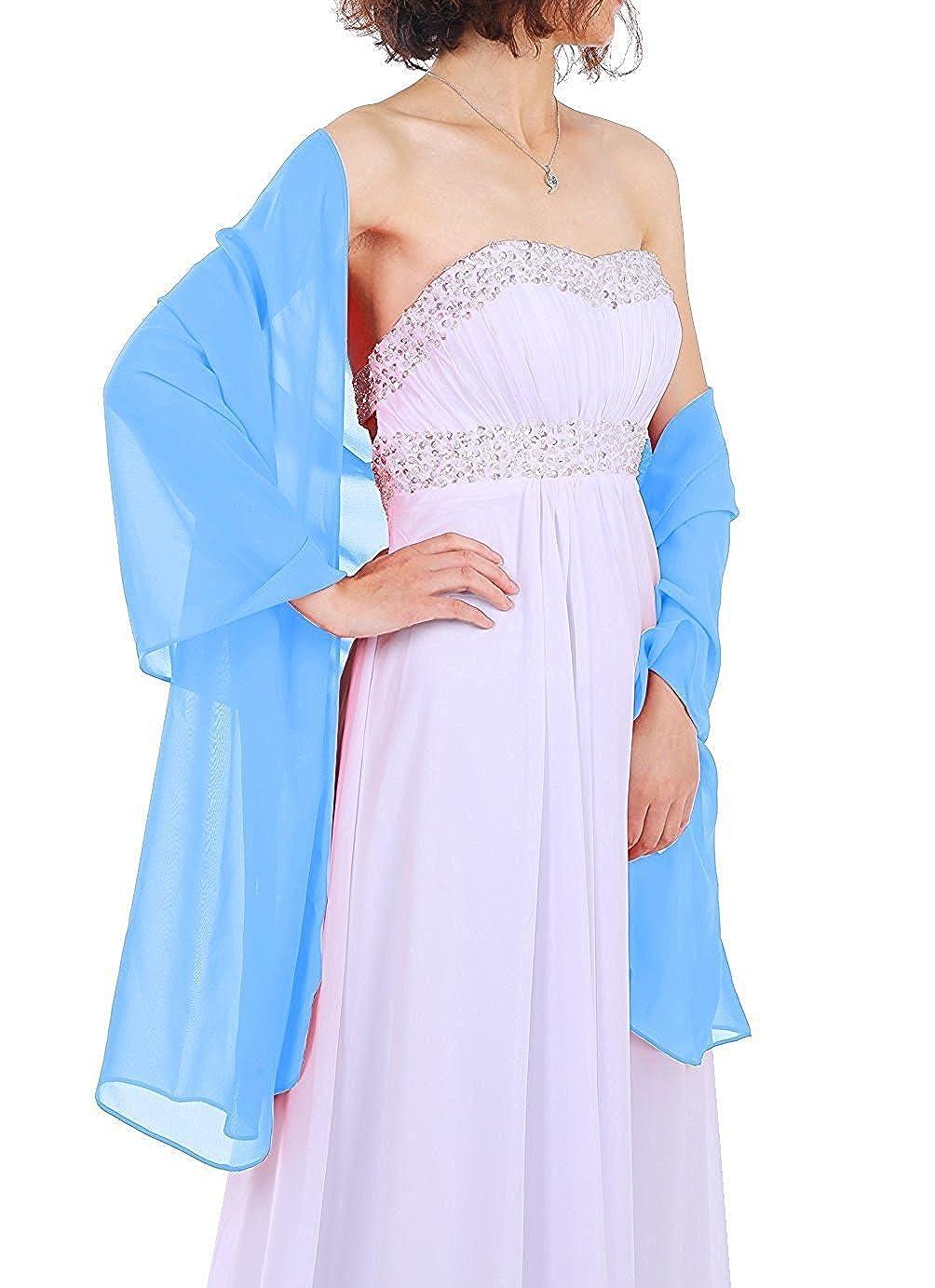 Dressystar Chiffon Stola Schal für Kleider in verschiedenen Farben AMY333Black