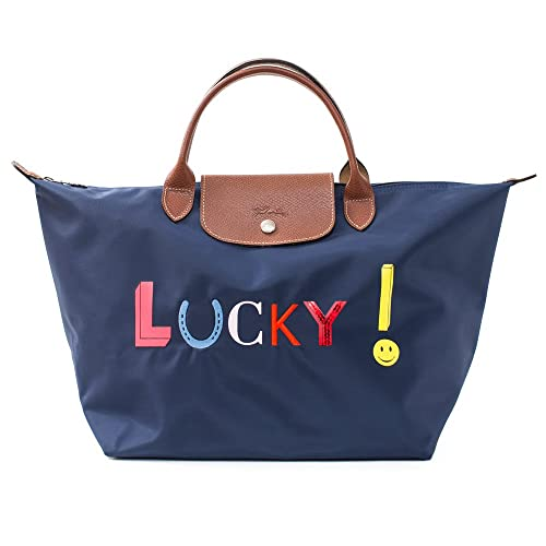 Amazon.com: Longchamp Le Pliage France Azul Marino Lucky ...