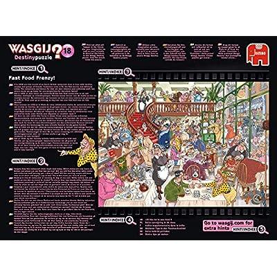 Wasgij 19157 Destiny 18 - Fast Food Frenzy 1000 Piece Jigsaw Puzzle: Toys & Games