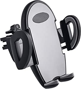 Upgraded Car Phone Mount, CloudValley Air Vent Car Phone Holder Cradle Compatible with iPhone 11 Pro Max XS XR X 8 8+7 7+ 6 Plus SE Samsung Galaxy S10 S9 S8 S7 S6 Note 10 9 Google Pixel LG and More