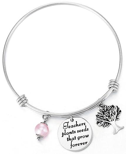Amazon.com: ELOI Teacher Appreciation Bracelet Gift High School ...