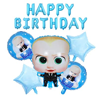 8Pcs baby boss Balloons Party Supplies,For baby boss Theme Birthday Party Decorations: Toys & Games