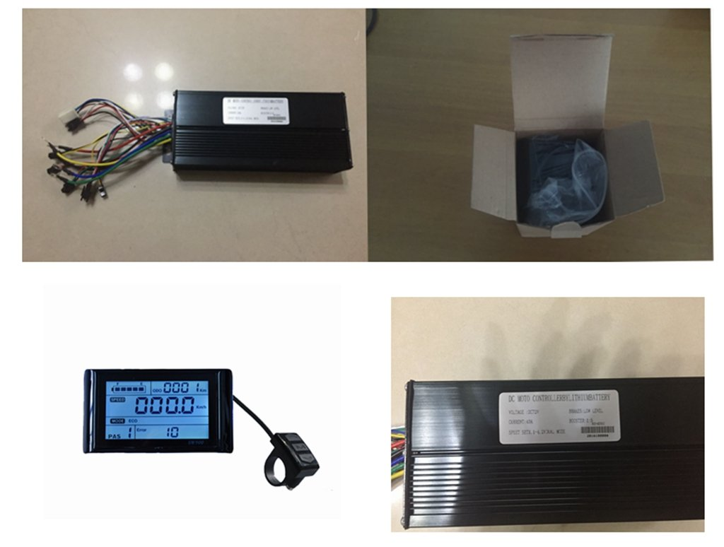 72V 40Amax Brushless DC Motor Controller Ebike Controller +72V SW900 LCD Display One Set,Used for E-Bike Kit, Electric Bicycle Conversion kit, Electric Bicycle Part & Accessories.