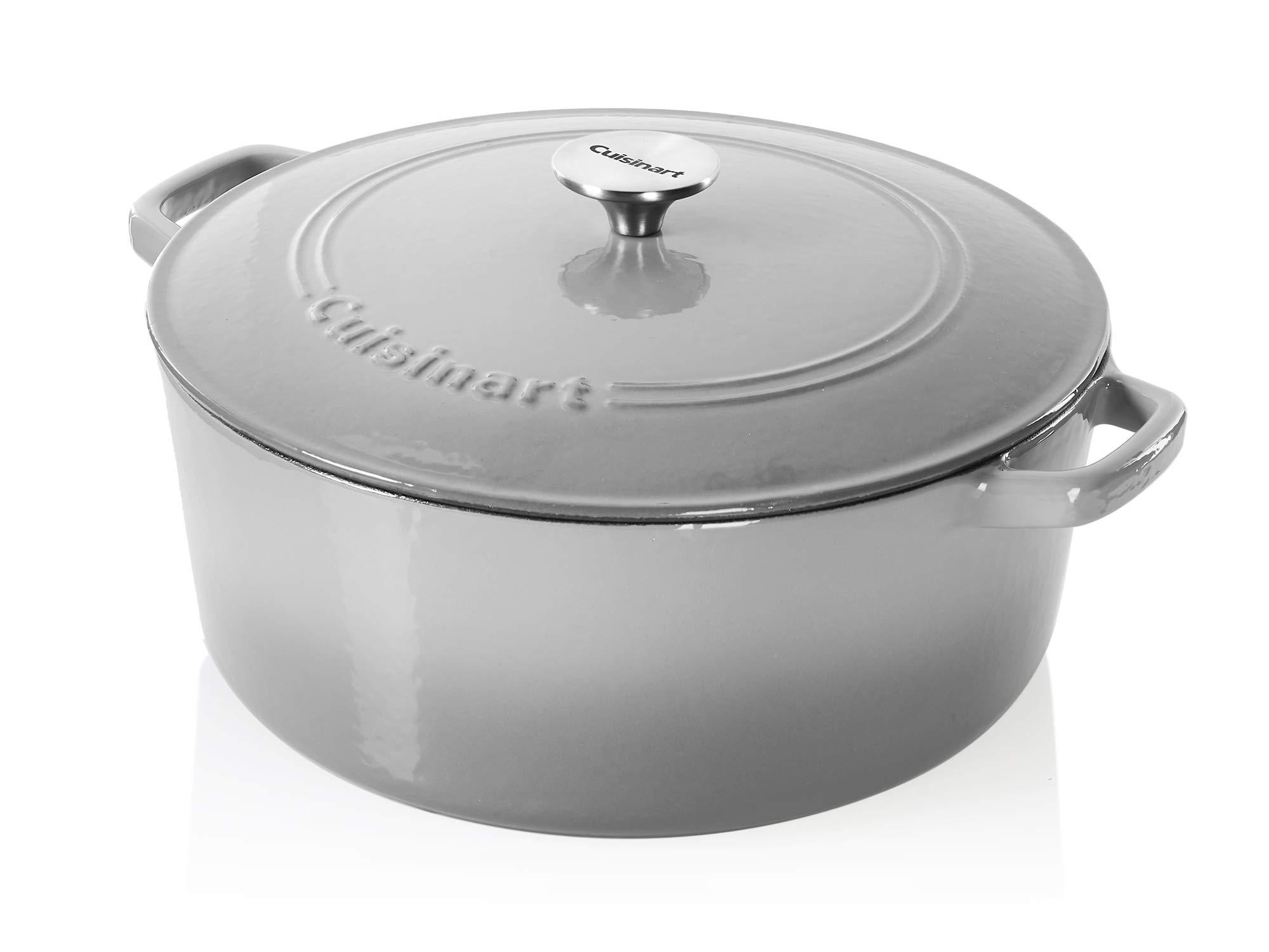 Cuisinart Cast Iron Casserole, Grey Gradient, 7-Quart