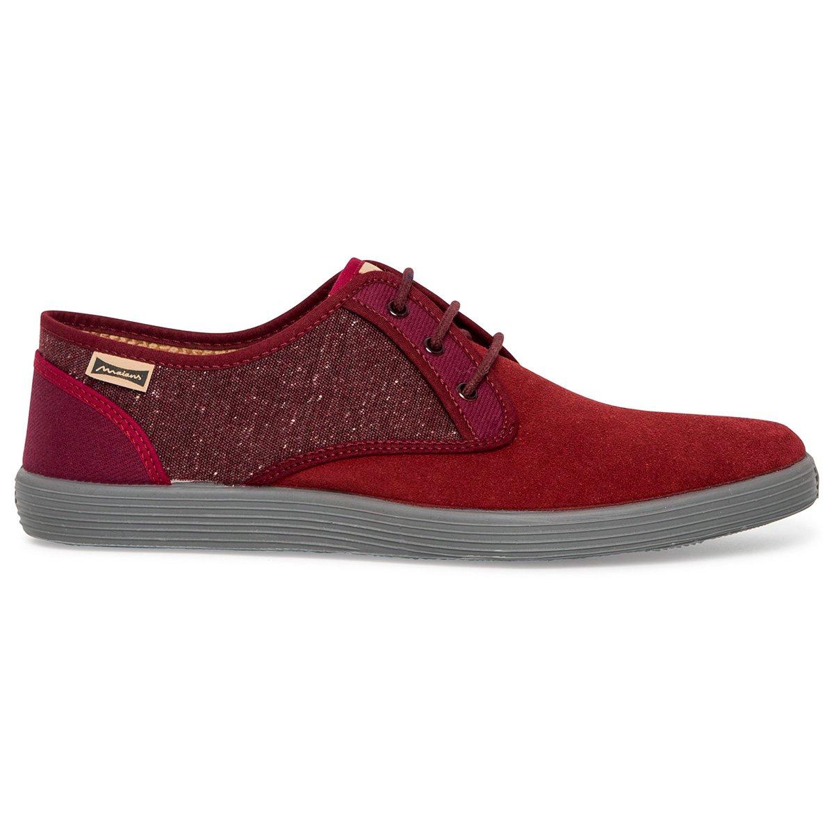 Maians Zapato de Cordones para Hombre. Combinacion Ante y Cotton. Artesanal Made in Spain