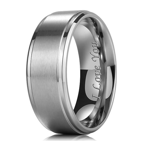 King Will Basic - Anillo de boda de titanio de 9 mm con acabado mate: Amazon.es: Joyería