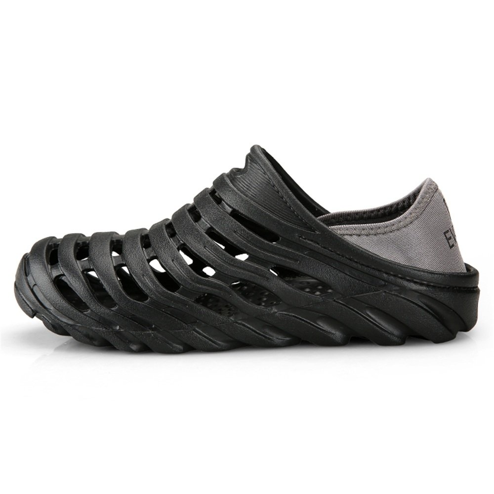 2018 New Men's Clogs Sandals are Breathable Casual Skid-Proof and Breathable are Drag Cool and Pull Twice Elastic Heel Strap for Water Shoes (Color : Black, Size : 9.5 D(M) US) B07G6QQ96S Slippers f8ce52
