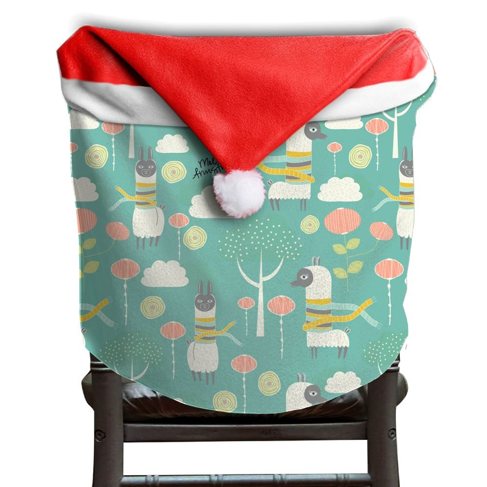 Llama Animal Christmas Chair Covers Personalized Scratch Resistant Chair Covers For Christmas For Men And Women Chair Back Covers Holiday Festive