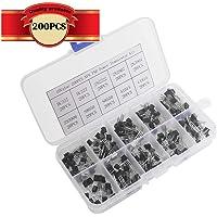CESFONJER 200 Pcs Kit de surtido del transistor