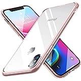 【Humixx】 iPhone X ケース iPhone 10 ケース [ Qi 充電 対応 ] [ カメラレンズ保護 ボタン保護][ 衝撃 吸収 透明感 ]( iPhoneX / iPhone10 , クリスタル・ピンク)