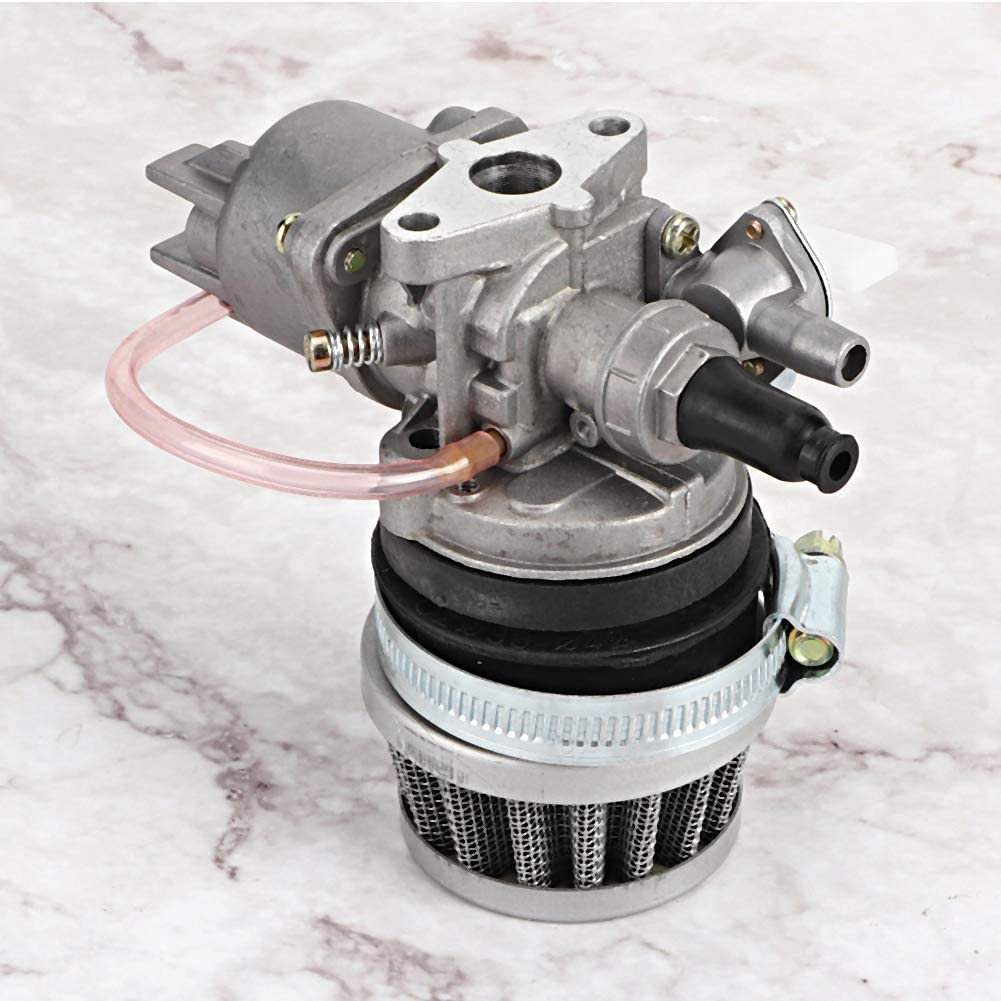 Aluminiumlegierung Vergaser Luftfilter f/ür 47ccm 49ccm Mini Motorcycle Grey Vergaser Ersatz