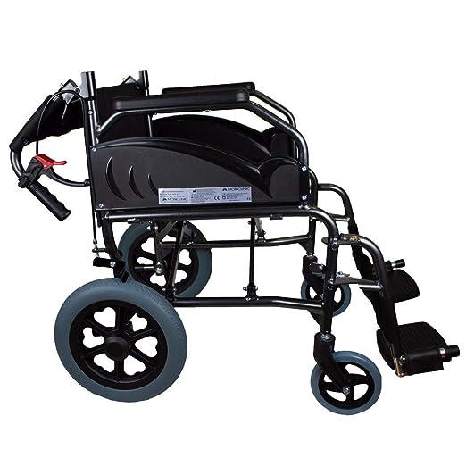Silla de ruedas | Plegable | Ruedas pequeñas | Aluminio | Reposapiés extraíbles y respaldo abatible | Museo | Mobiclinic