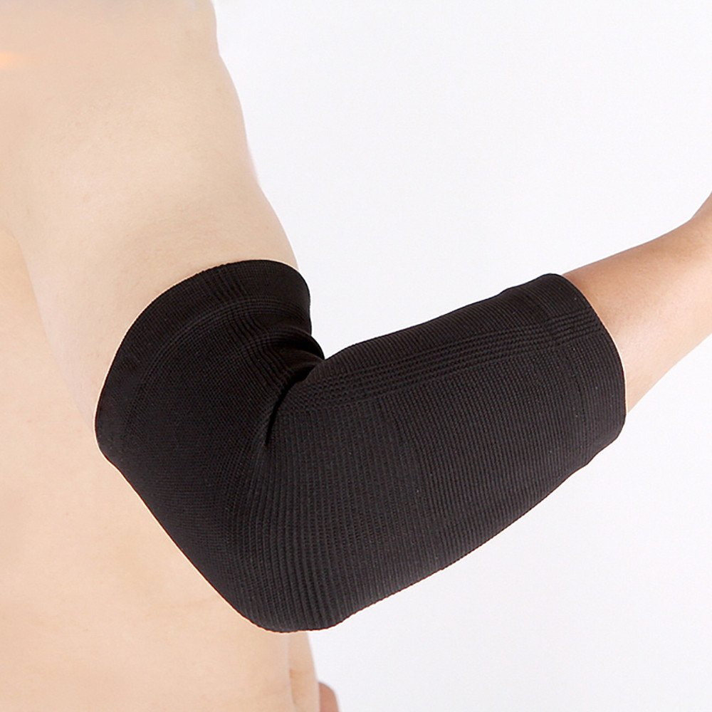 Elbow Exercise Health Care Elbow Compression Sleeve for Sports, Gym, Workout, Pain Relief, Injury Recovery (Black, S)