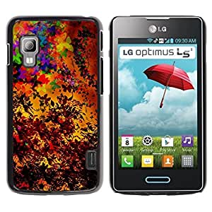 PC/Aluminum Funda Carcasa protectora para LG Optimus L5 II Dual E455 E460 Colorful Autumn Seasons Art Painting Leaves / JUSTGO PHONE PROTECTOR
