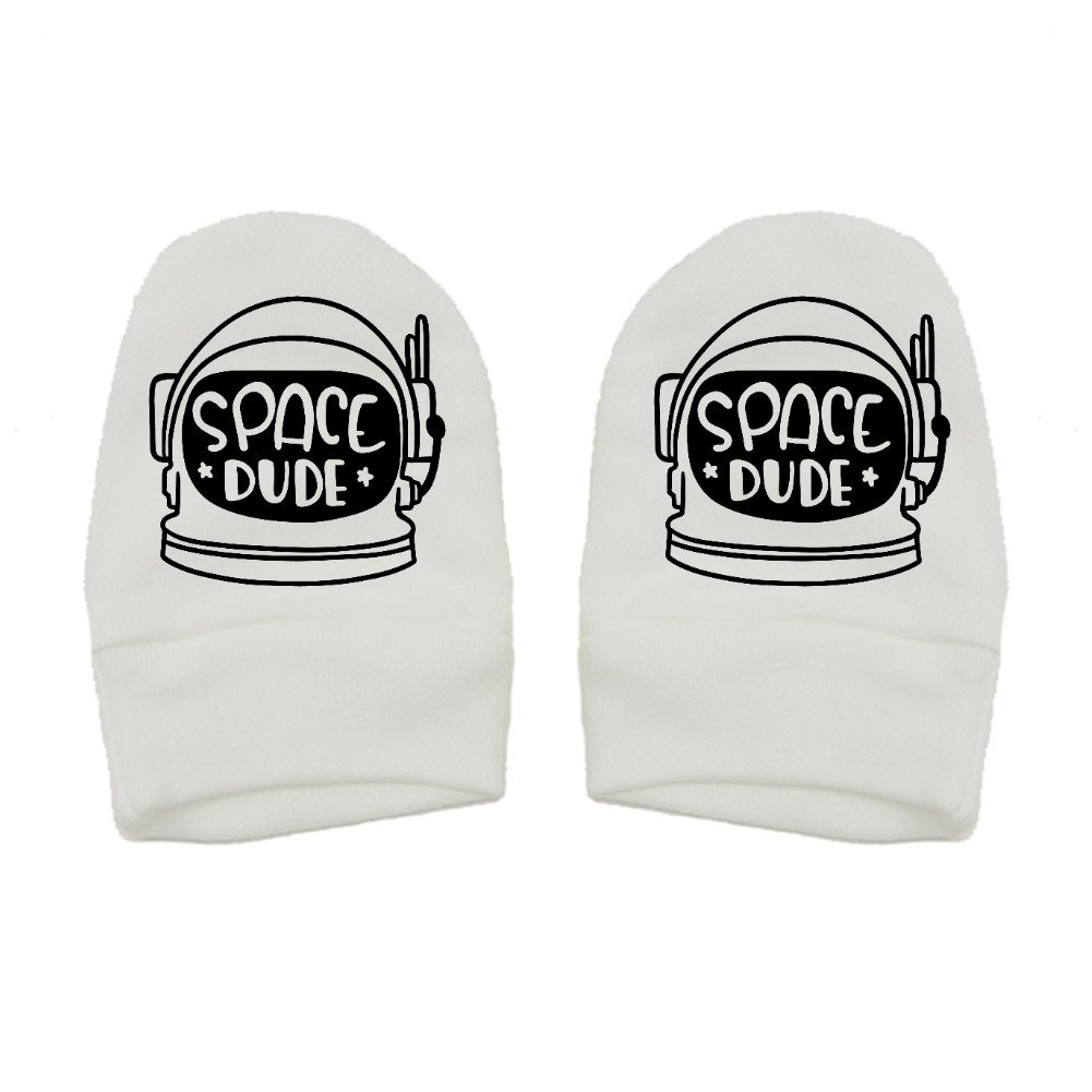 Space Dude Thick Premium Thick /& Soft Baby Mittens Mashed Clothing Unisex-Baby Fun /& Trendy