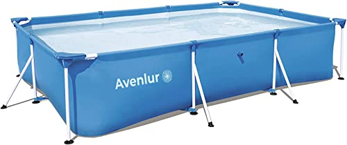 Avenlur Steel Pro Rectangular Above Ground Swimming Pool Pool Only 118 x 79 x 26