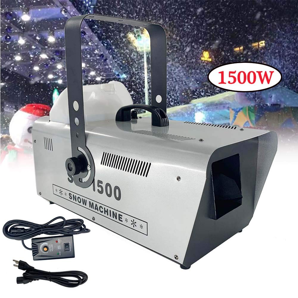 TABODD 1500W Snow Maker with Remote Control, 110V Snowflake Machine Portable and Realistic Snow Effect for Party Christmas Stage & Yard Decor, Indoor & Outdoor Background Atmosphere Must Have by TABODD