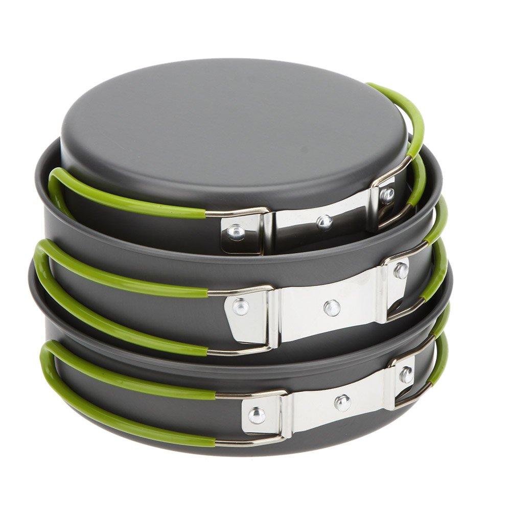 Lixadaポータブルアウトドアテーブルウェアキャンプ調理器具2 – 3 People多機能ポータブルCooking Set forアウトドアストーブ B01HGIO93C
