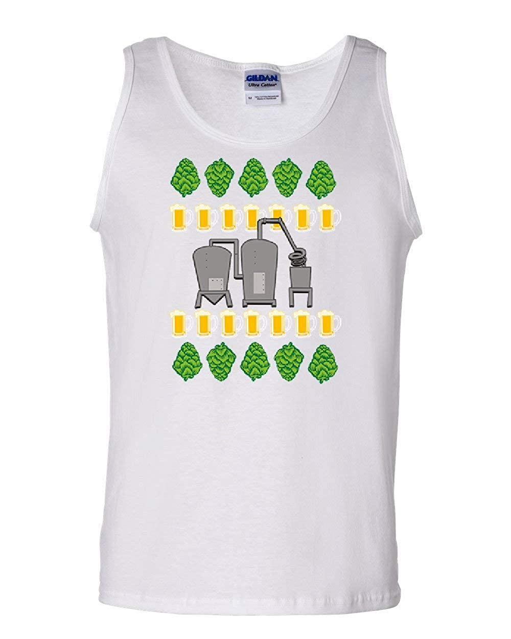 Tee Hunt Hops Brewery Tank Top Beer Ugly Sweater Christmas Xmas Drinking Sleeveless