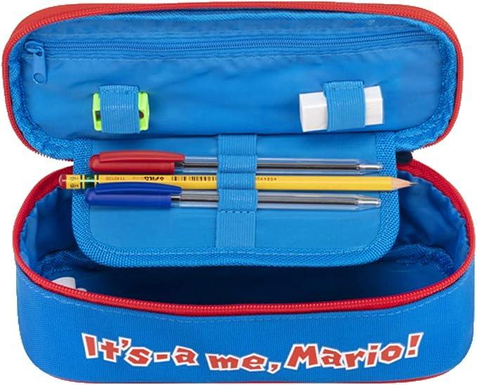 Super Mario Bross - Estuche ovalado organizado con juego de escritura 62873: Amazon.es: Oficina y papelería
