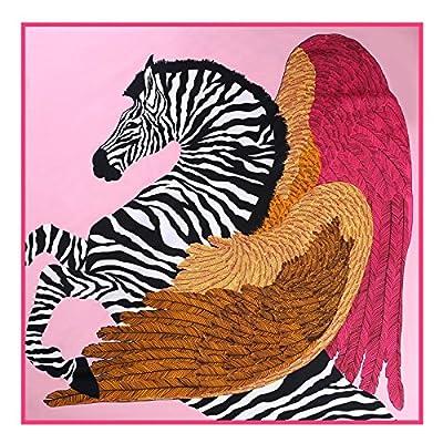 Foulard Foulard soie _ Totem ailes Zebra 100cm twill de soie foulards en soie, foulard carré