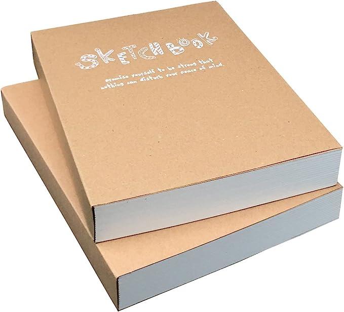 BLACK card wooden hardback cover scrapbook pad wirobound sketch books kraft arts