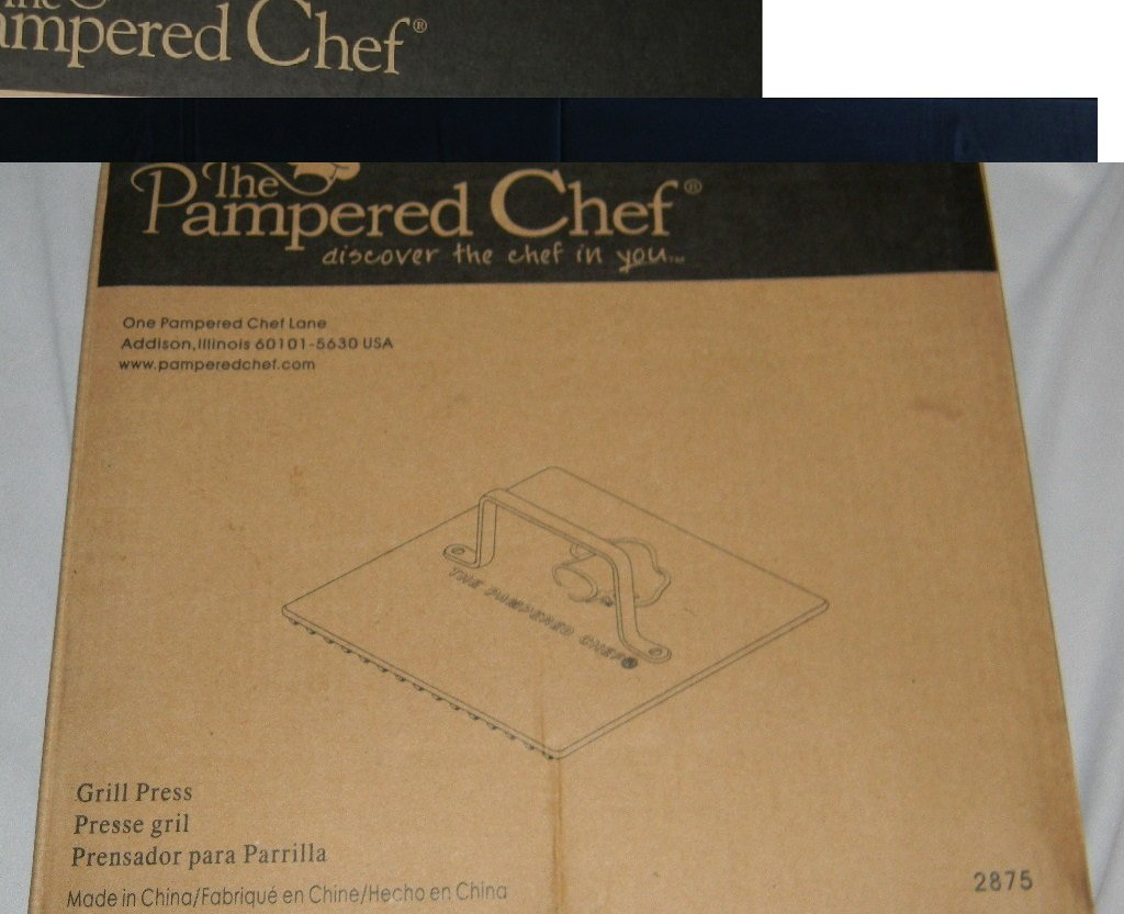 Pampered Chef Executive Nonstick Grill Press (2875)