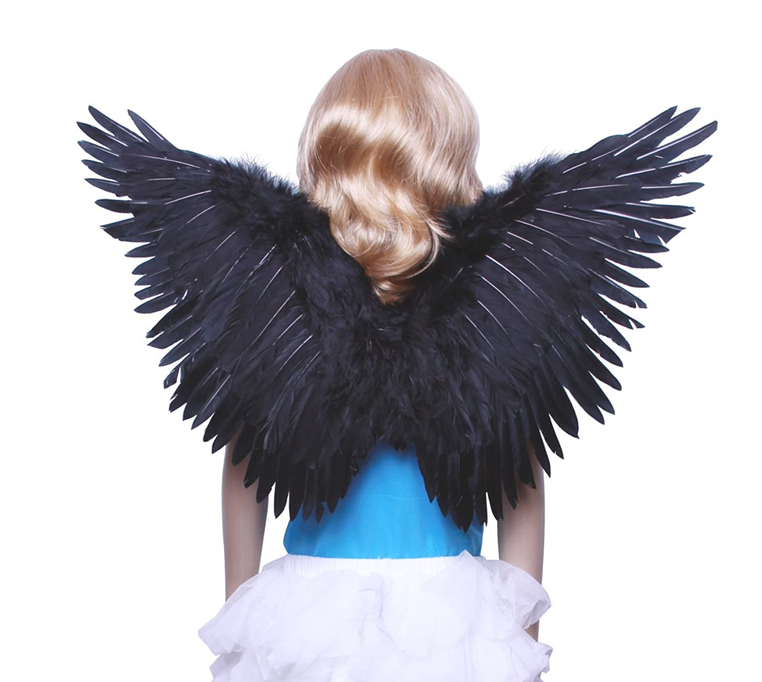 Black feather wings child size
