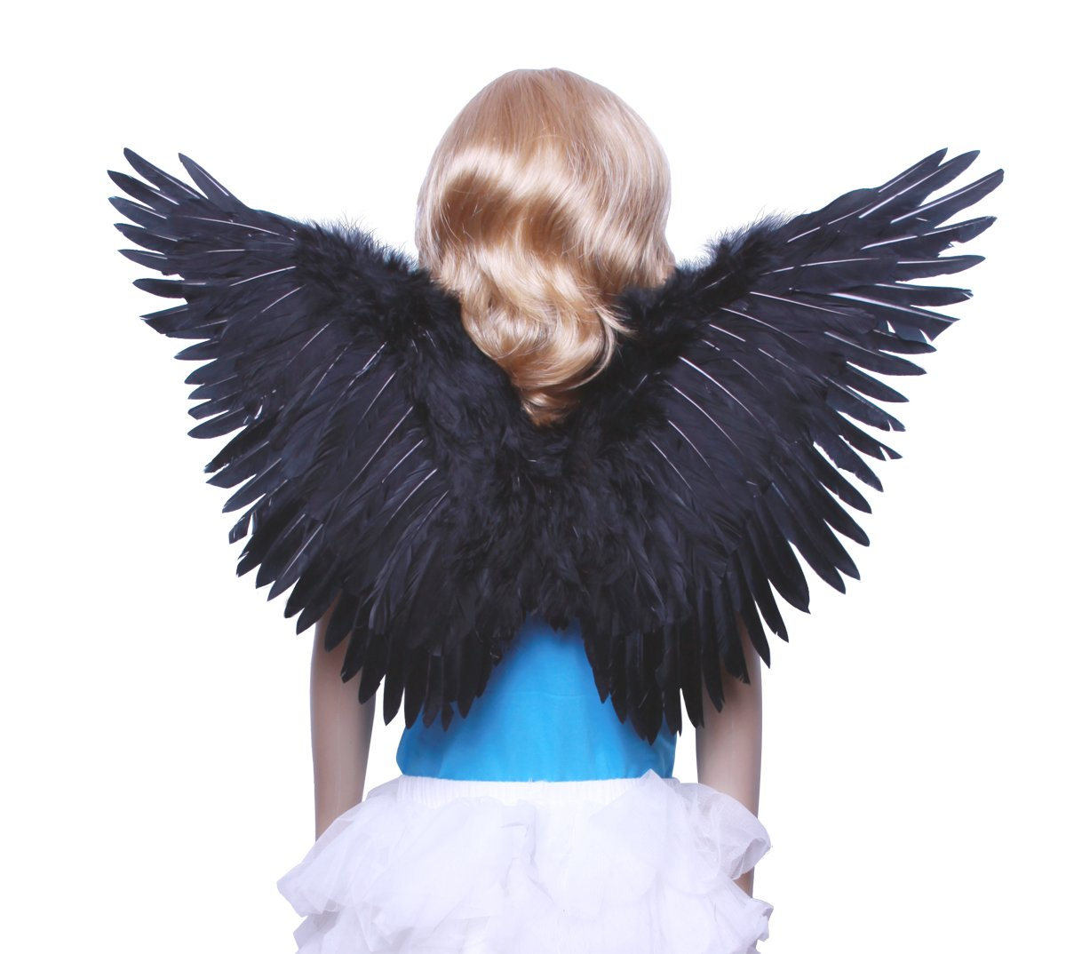 FashionWings (TM Children's Black Butterfly Style Costume Feather Angel Wings