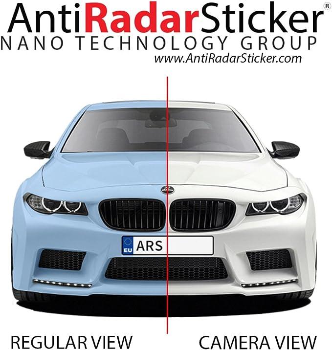 Amazon.es: Anti Radar Sticker Radar anti etiqueta engomada anti Del radar para placas de matrícula de los vehículos - 7 pegatinas en un solo paquete - imagen bloqueador del radar de velocidad - negro