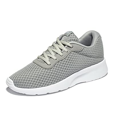 Fashion Grey Tennis Breathable Mesh Sneakers Running Shoes for Women- US Size 7