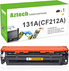 Aztech Compatible Toner Cartridge Replacement for HP 131X 131A CF212A (Yellow, 1-Pack)