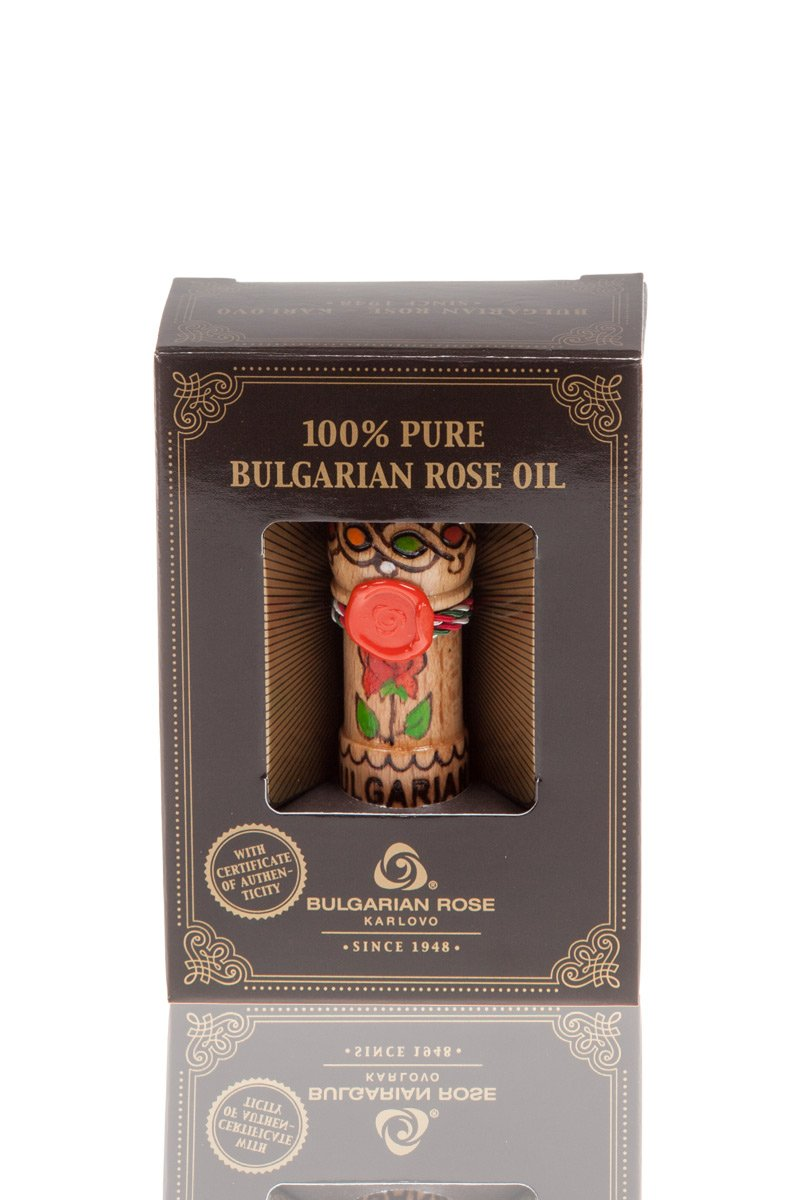 Pure 100% Essential Rose Oil Otto Bulgarian Rosa Damascena Rose Attar 0.5 ml Therapeutic Grade Undiluted Certified