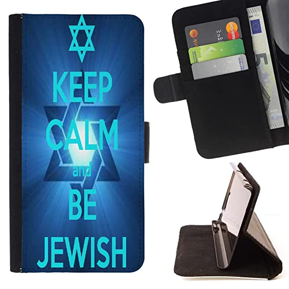 Amazon Fjcases Jewish Hebrew Symbols Slim Wallet Card Holder
