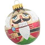 Kurt Adler Nutcracker Design Glass Ball Ornament, 65mm, Set of 4