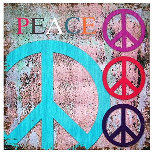 Oriental Furniture Peace Canvas Wall Art - Hippie wall decor