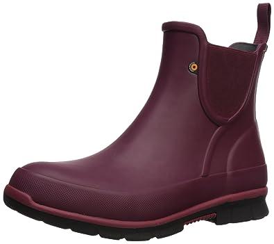 Solid Women's Amanda On M Us Slip BootBurgundy7 Bogs Rain 3l1cTFKJ