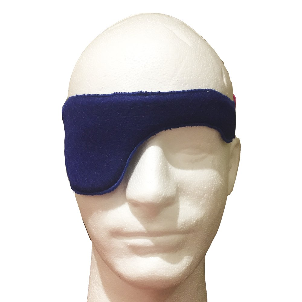 A Super-Comfortable, Adjustable Eyepatch: The Headband Patch for Adults: Comfortable and Secure, Adjustable Felt Eyepatch for Adults (DEEP Blue)