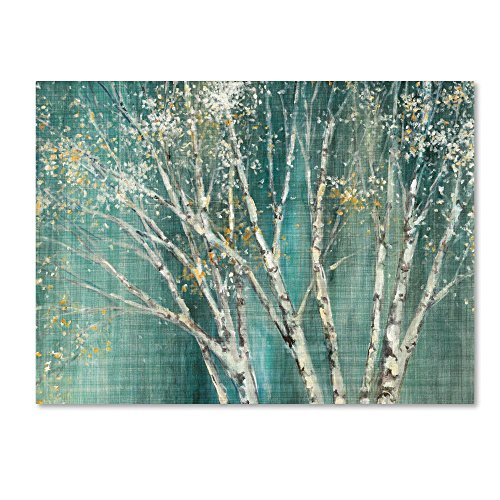 Blue Birch by Julia Purinton, 35x47-Inch Canvas Wall Art by Trademark Fine Art